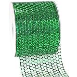 Morex Ribbon Chicago Poly Honeycomb Ribbon, 3-1/4 by 55-Inch Yard Spool, Green