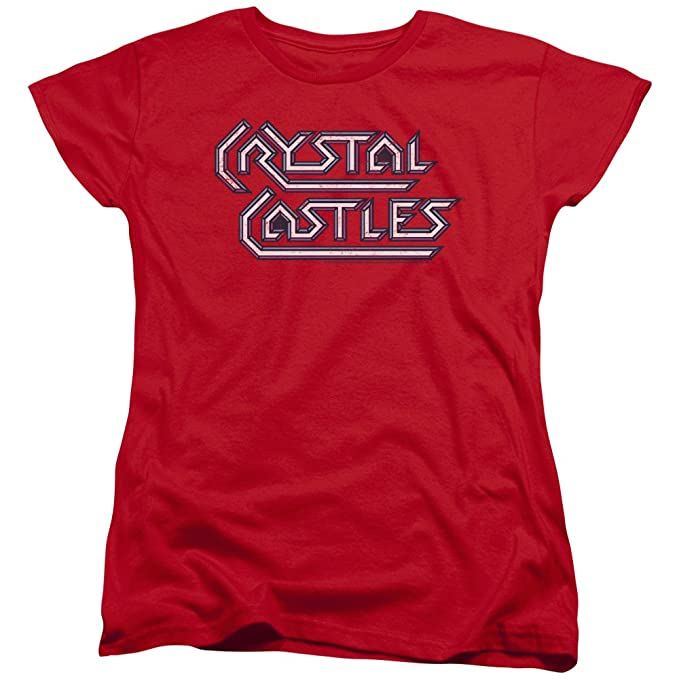 Trevco Atari arcade logo videojuegos cristal castil juego wot-shirt para mujer Grande Rojo