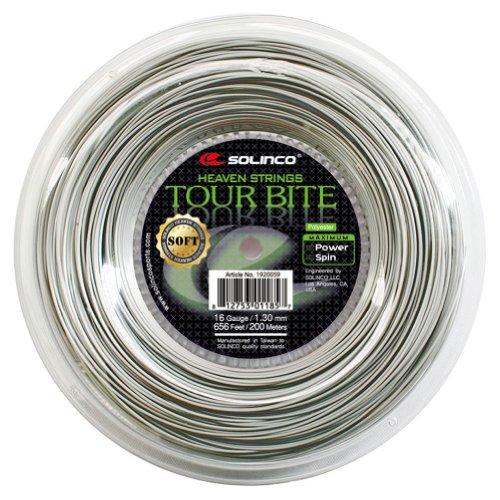 Solinco SOLTBSR Tour Bite Soft Tennis String Reel Light Silver