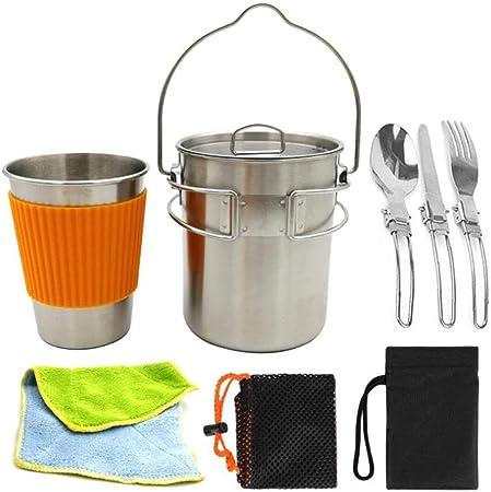 Utensilios de cocina de camping portátil, Equipo de cocina ...
