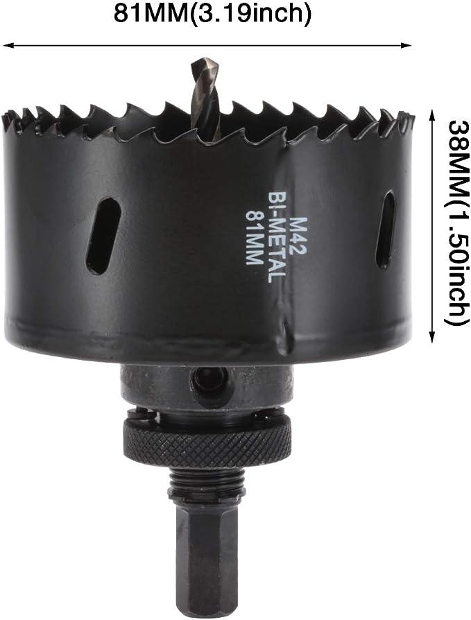 38mm-81mm Bi metal Hole Saw Arbor Hole Saw Drill Bit Metal Wood Plastic