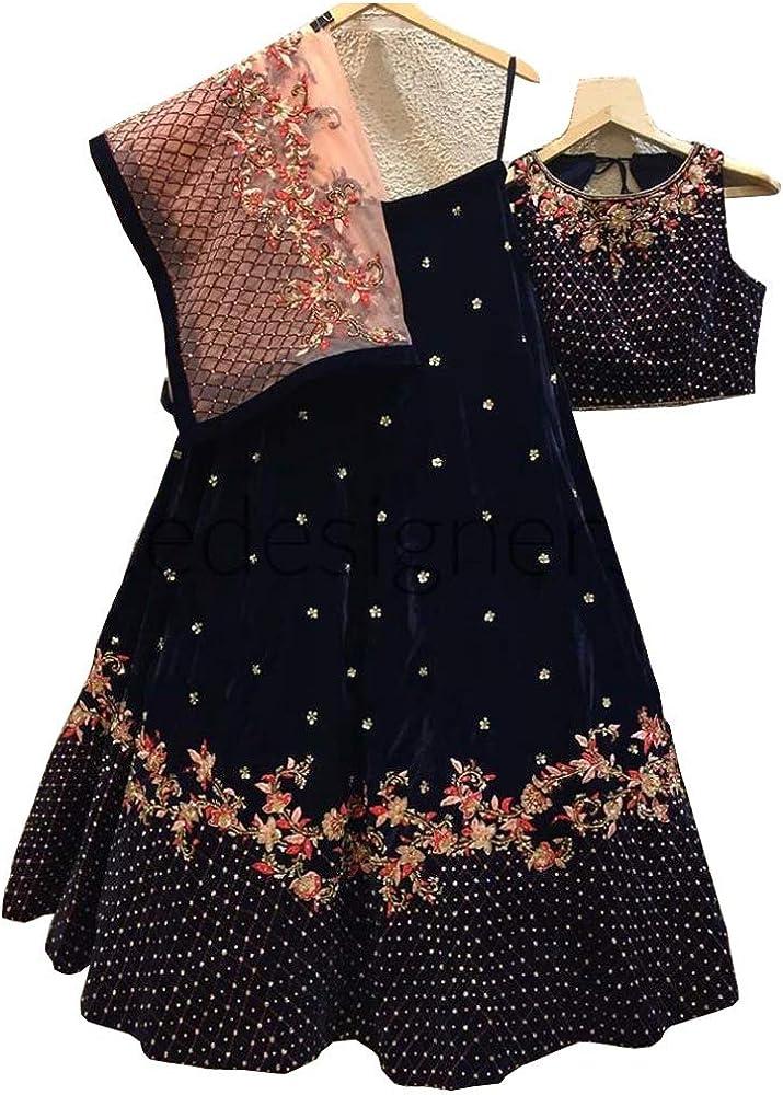 Amazon Com Lehenga Choli Party Wear Bollywood Designer Wedding Lengha Sari Trendy Culture 0064 Clothing