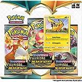 Triple Pack Pokémon Pikachu Espada e Escudo 3 Escuridão Incandescente