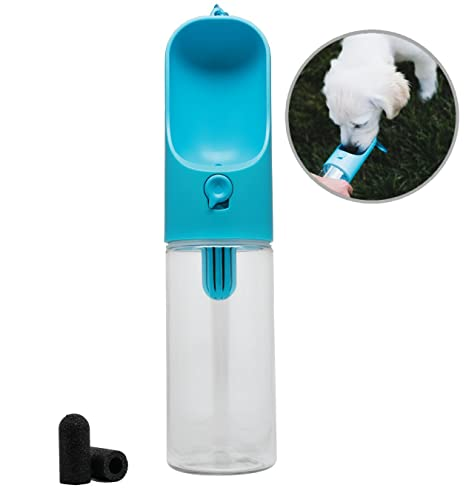76dff4a8eeed Bark Bottle Leak-Proof Dog Water Bottle with Replacement Carbon Filters,  Perfect for Walking, Running, Hiking, Car Rides, and All Other Dog  Activities