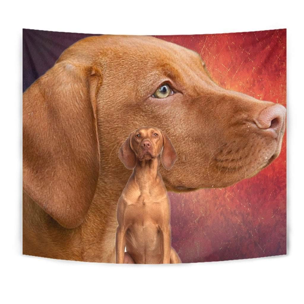 Cute Vizsla Dog Print Tapestry by Paws With Attitude