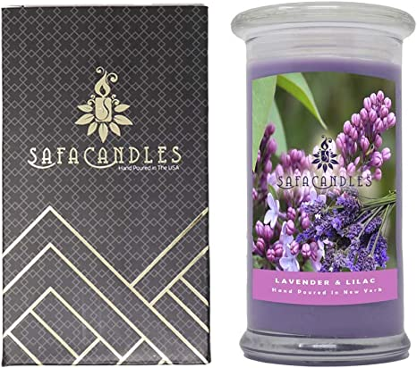 Amazon Com Aroma Scented Lavender Lilac Candle Big Jar 17 5 Oz Candle Lavender Lilac Candle Home Improvement