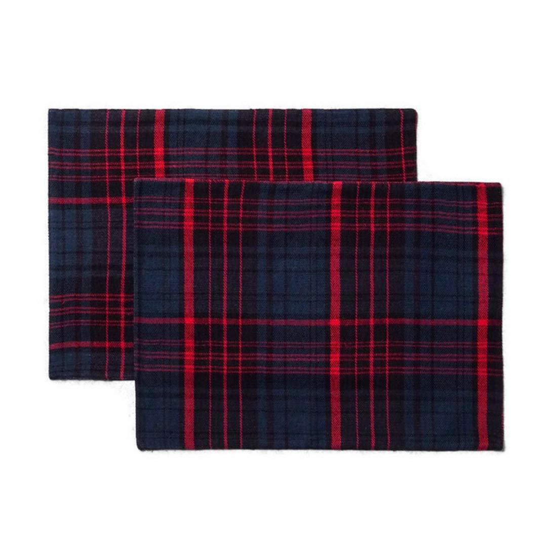 Set of 2 Plaid Red//Blue Hearth /& Hand with Magnolia