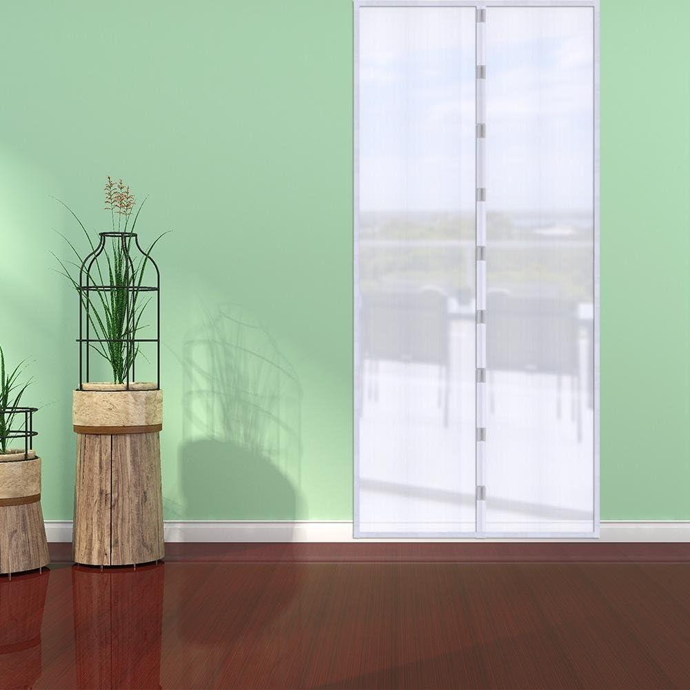 sala de estar y habitaci/ón de los ni/ños negro 90 x 210 cm Demiawaking Cortina magn/ética mosquitera mosquitera para puerta corredera balc/ón