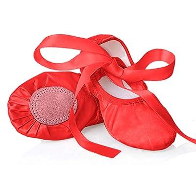 Chimei Ballet Dance Shoes for Goddler Girls Kids Women Pink Red Yoga Slipper Satin Flat Physical Shoe | Shoes