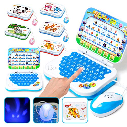 Bluelans Early Learning Toys Educational Computer Toy English Learn Machine for Kids Boys Girls Xmas Gifts Xmas Stocking Fillers Party Bag - Type Learning Touch Computer