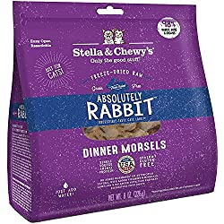 Stella & Chewy's Freeze-Dried Cat Treats, Absolutely Rabbit, Dinner Morsels, 9 Ounce, 6 Pack