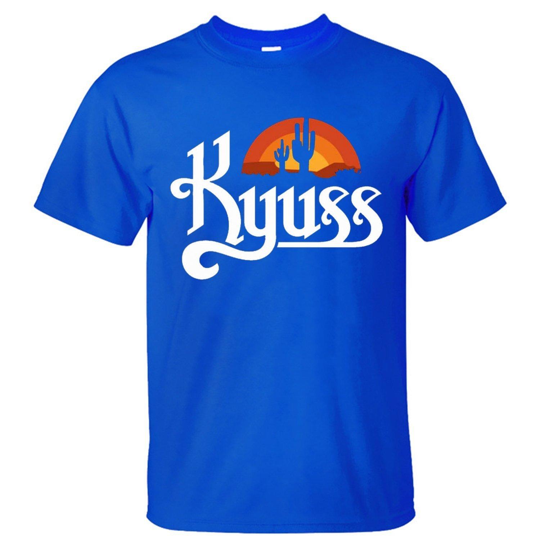 WPAD Men's Kyuss Hard Rock Band Logo Cotton Short Sleeve T-shirt