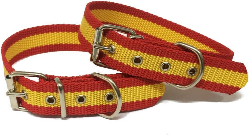 Happyzoo Collar para Perro Bandera de España 50 cm: Amazon.es ...