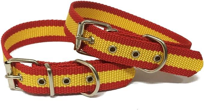 Happyzoo Collar para Perro Bandera de España 50 cm: Amazon.es: Productos para mascotas
