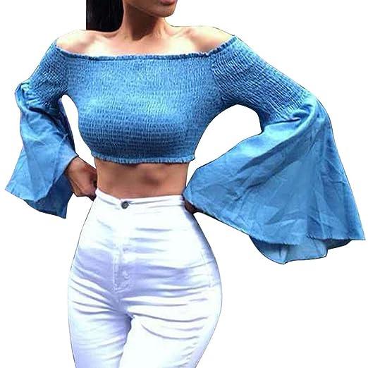 f7464fab8c3a41 Amazon.com  Women Off Shoulder Blouse