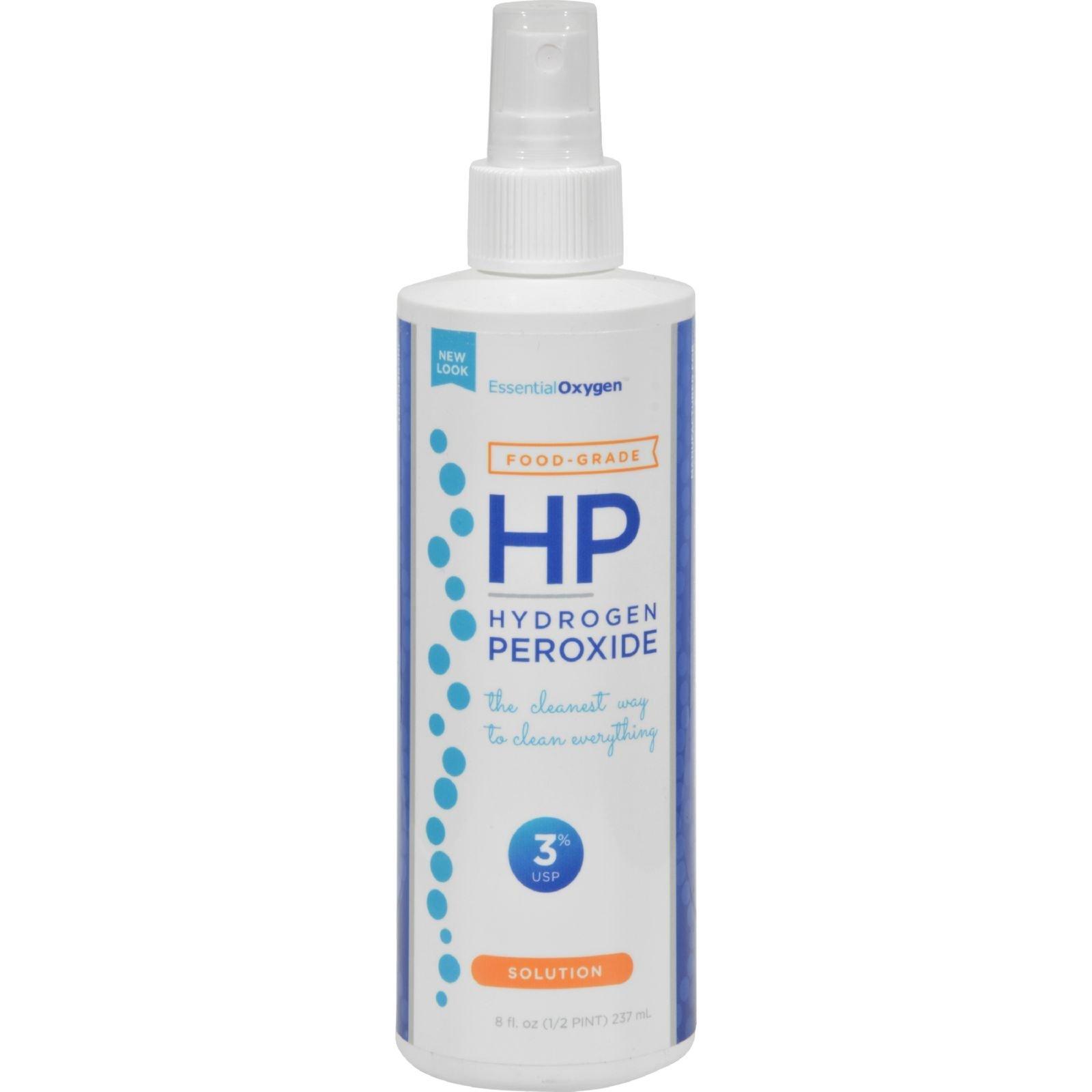 Essential Oxygen 3% Food Grade Hydrogen Peroxide, 8 Ounce
