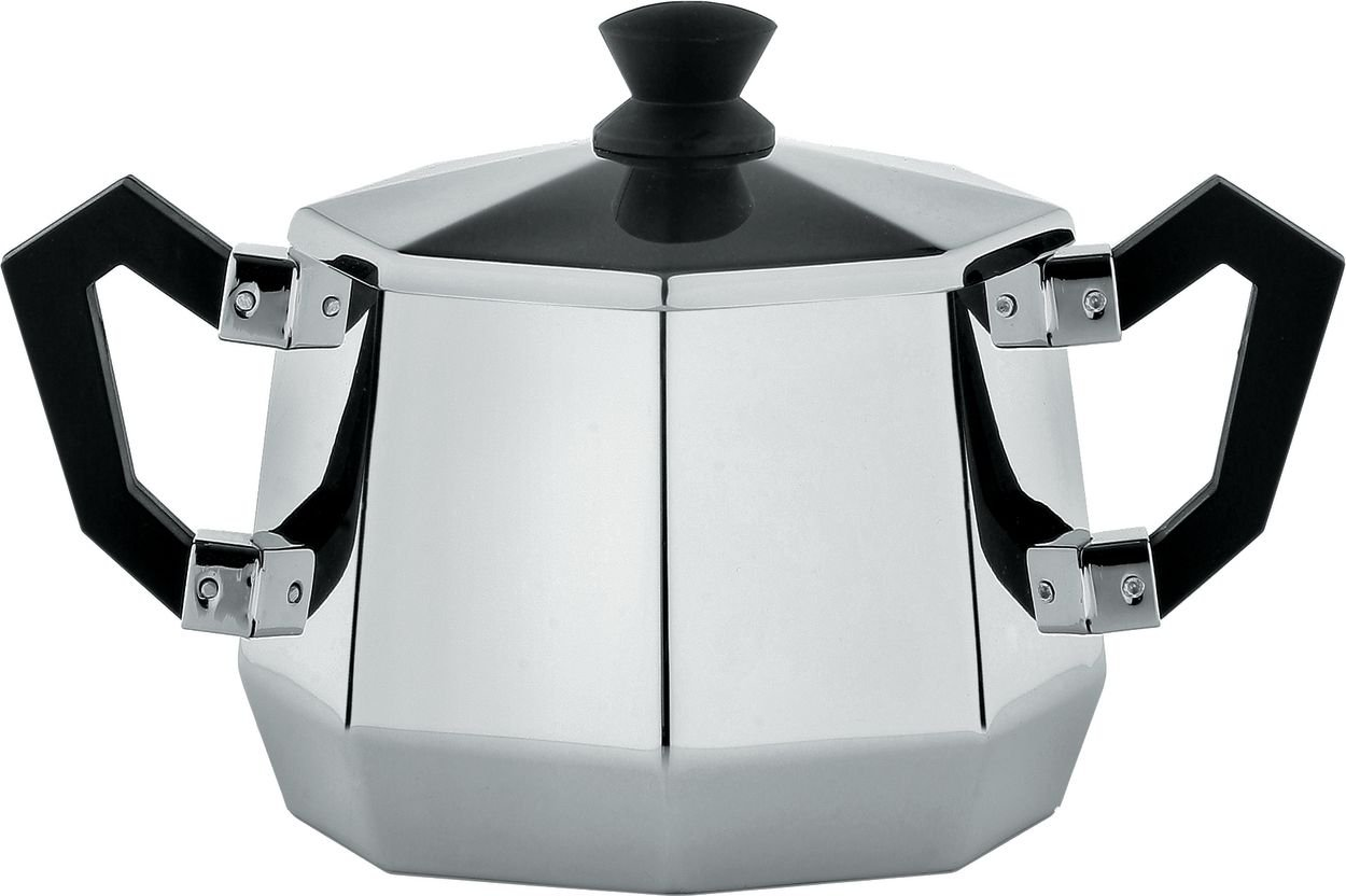 Alessi CA114''''Ottagonale'' Sugar Bowl, Black