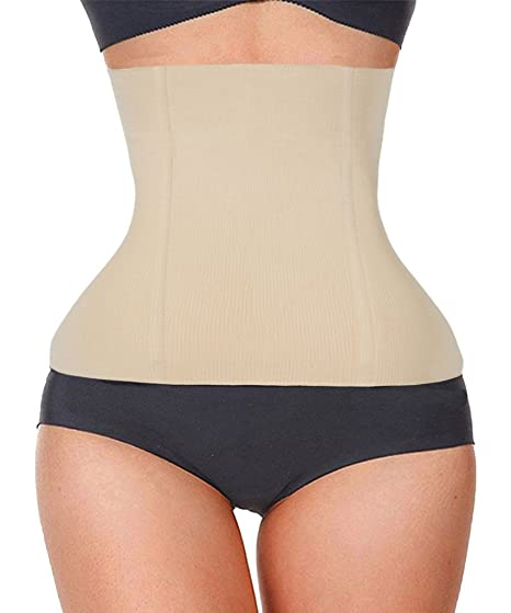 5efd426754 Image Unavailable. Image not available for. Color  FUT Womens No Closure  Waist Cincher Body Shaper Tummy Control Waist Girdle Seamless Underbust  Corset