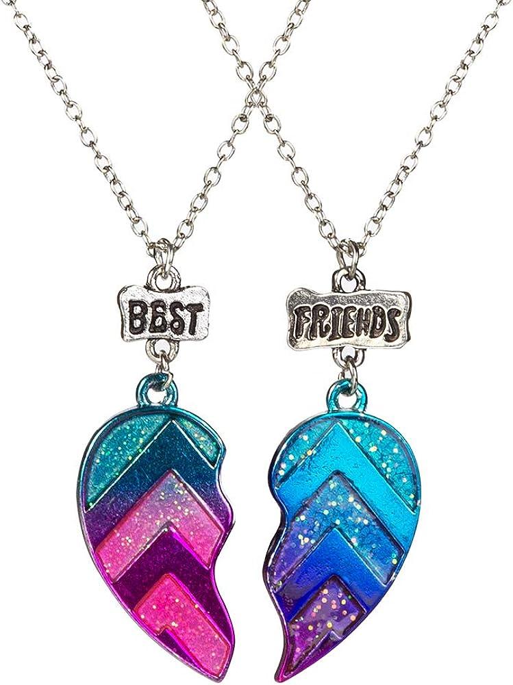 Amazon.com: Best Friends Half Heart Pendant Necklace for Children, Kid's  Best Friend Jewelry, Friendship Gift Girls BFF Necklaces-Love: Clothing