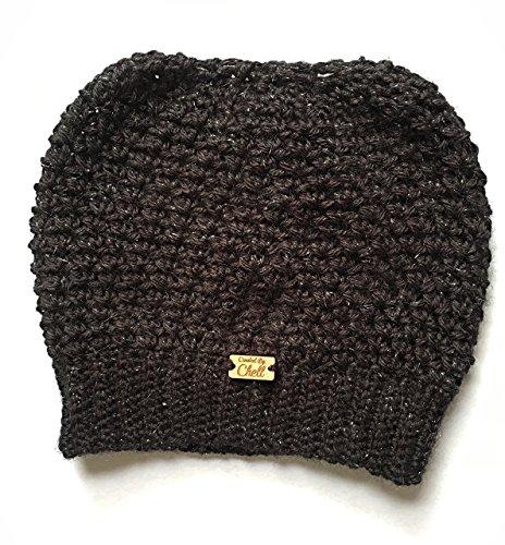 Handmade Celestial Sparkle Hat, Crochet Women's Shimmer Hat, Women's Winter (Celestial Shimmer)