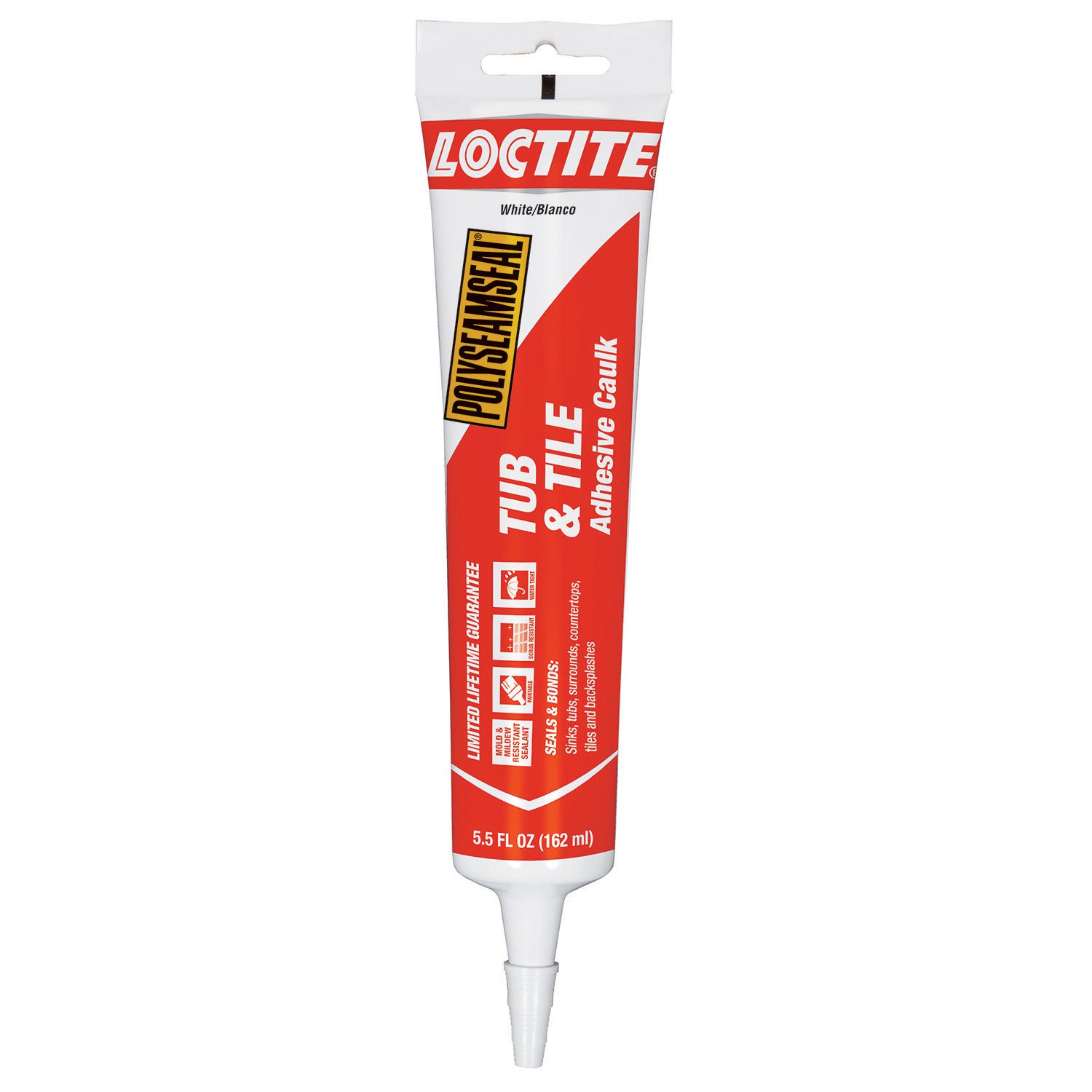 Loctite Polyseamseal White Tub and Tile Sealant, 5.5-Fluid Ounce Squeeze Tube (2241860)