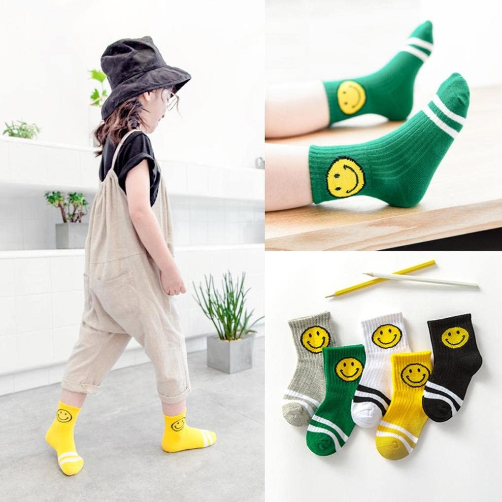 DIGOOD 5 Pairs Baby Boys Girls Knitting Cotton Blend Cute Warm Socks