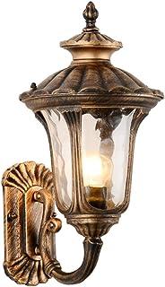 HZB Corridoio esterno del corridoio del corridoio della lampada da parete, lampada da parete europea, lampada esterna impermeabile del cortile della villa, rame antico (Size : S)