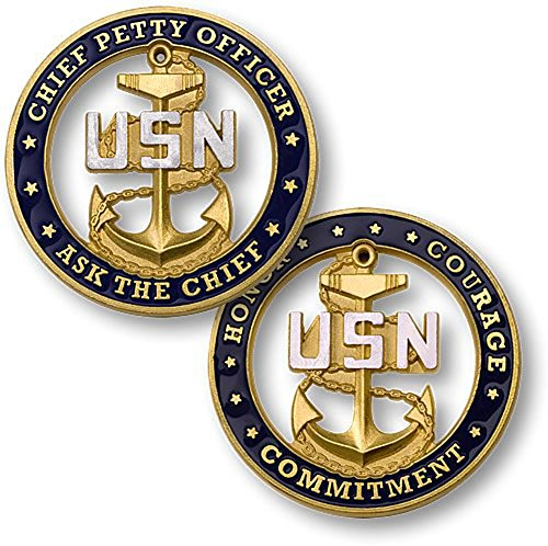 U.S. Navy Chief Petty Officer Ask the Chief Challenge Coin ()