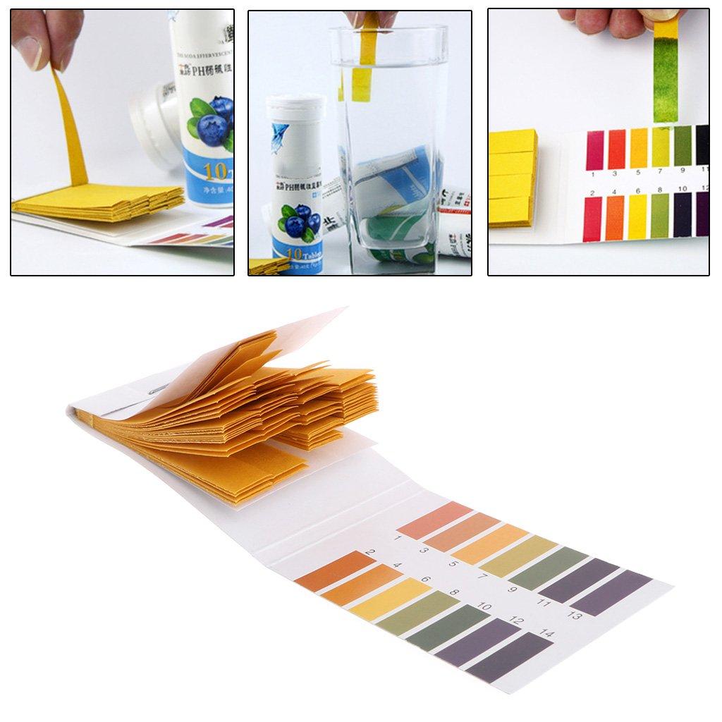 SimpleLife 80 pièces Test Paper 1-14PH Solution Strips Kit d'outils de Tournesol Indicateur Aquarium Pond