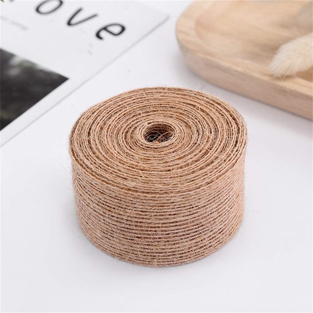 El cáñamo cuerda de yute pescado seda de lino de bricolaje Artes de la Navidad decoración de la boda del regalo Material 0,6 -3.8cm cinta Paquete Ramo Bundle Correa ( Color : 100M , Size : 2CM )