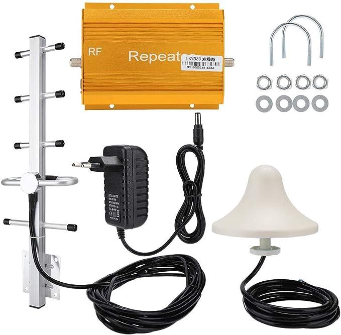 Amplificador de señal de teléfono móvil GSM980, Amplificador, repetidor, Antena Interior, 100-240 V, radiación Cero(Enchufe de la UE)