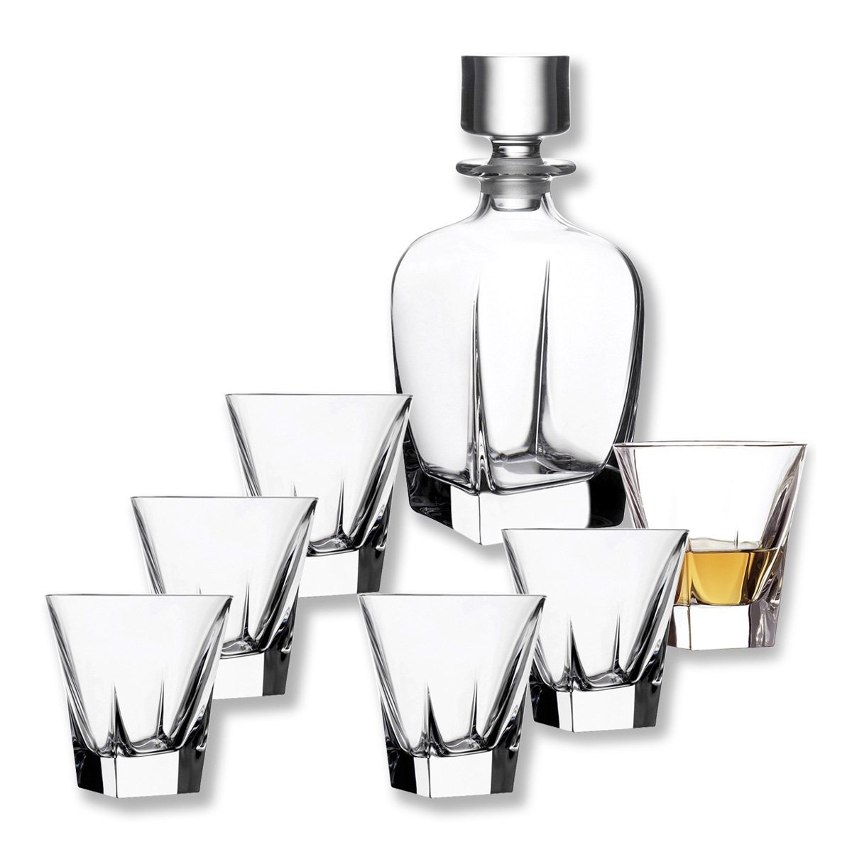 FUSION 6 Whiskey glasses+ 1 carafe Bruno Evrard Création