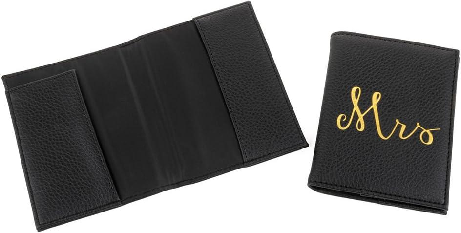 Mainstreet Collection Mr /& Mrs Black Passport Holder Set
