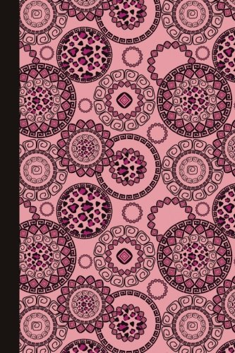 Sketch Journal: Animal Print Mandala (Pink) 6x9 - Pages are LINED ON THE BOTTOM THIRD with blank space on top (Mandala Design Sketch Journal Series)