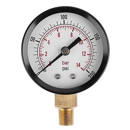 UKCOCO Medidor de presión de vacío para compresor de aire, agua, aceite, gas