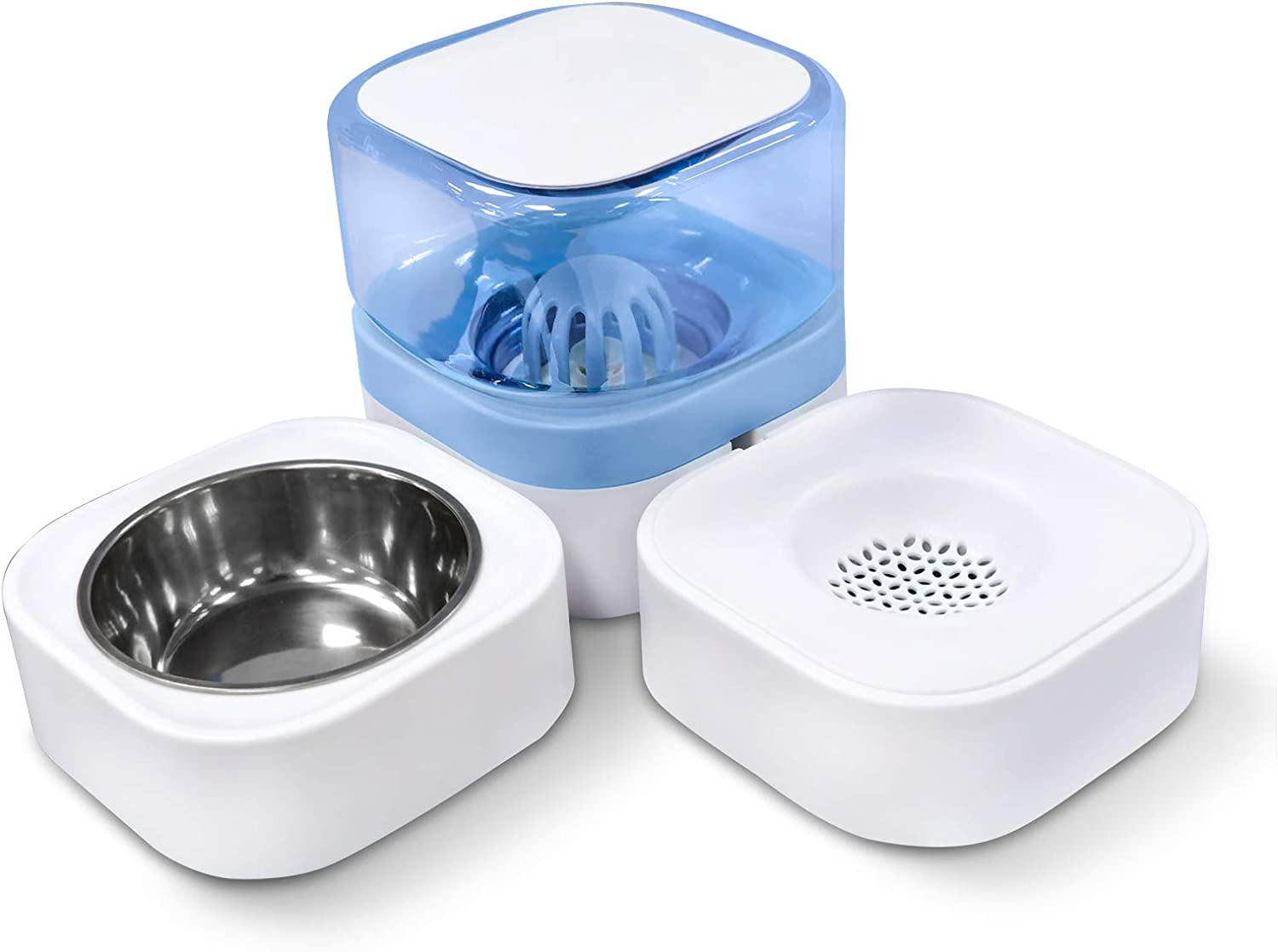 Luccalily Cat Food Bowls, Detachable Cat Dishes for Food and Water, Pet Bowls for Puppies Kitten Small Medium Dogs