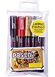 Uni Posca PC1M - Confezione da 5 pennarelli ultra-sottili, colori assortiti