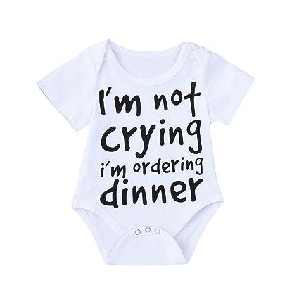 feiXIANG Bebé recién Nacido Ropa para niños Primavera y Verano bebé niño niña Carta de impresión