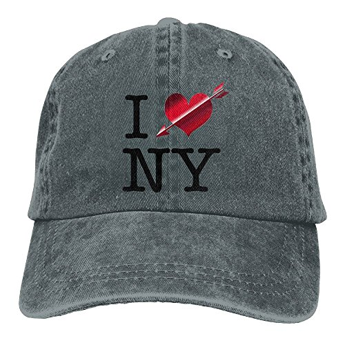 I Love New YorkClassicDenim Cap Adult Unisex Adjustable Cap by LETI LISW