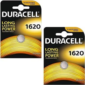 Duracell DL1620 Pack de batería de Litio (2 x 1er Blister de 2): Amazon.es: Electrónica