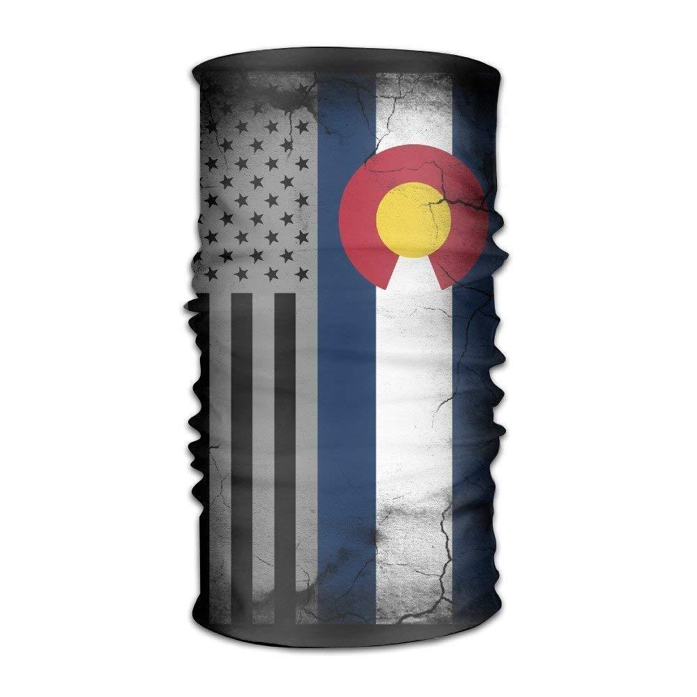 USA Colorado State Flag Multifunctional Magic Headwear 12-in-1 Men/&Women Tube Scarf Facemask Headbands Neck Gaiter Bandana Balaclava Helmet for Outdoor Running Yoga Work Out