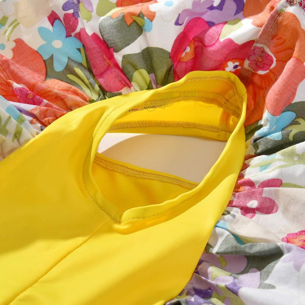 Baby Girls One Piece Swimsuit Beach Bikini Set Bathing Suit Little Kids//Toddler Swimwear Floral Ruffles Romper Cover Up