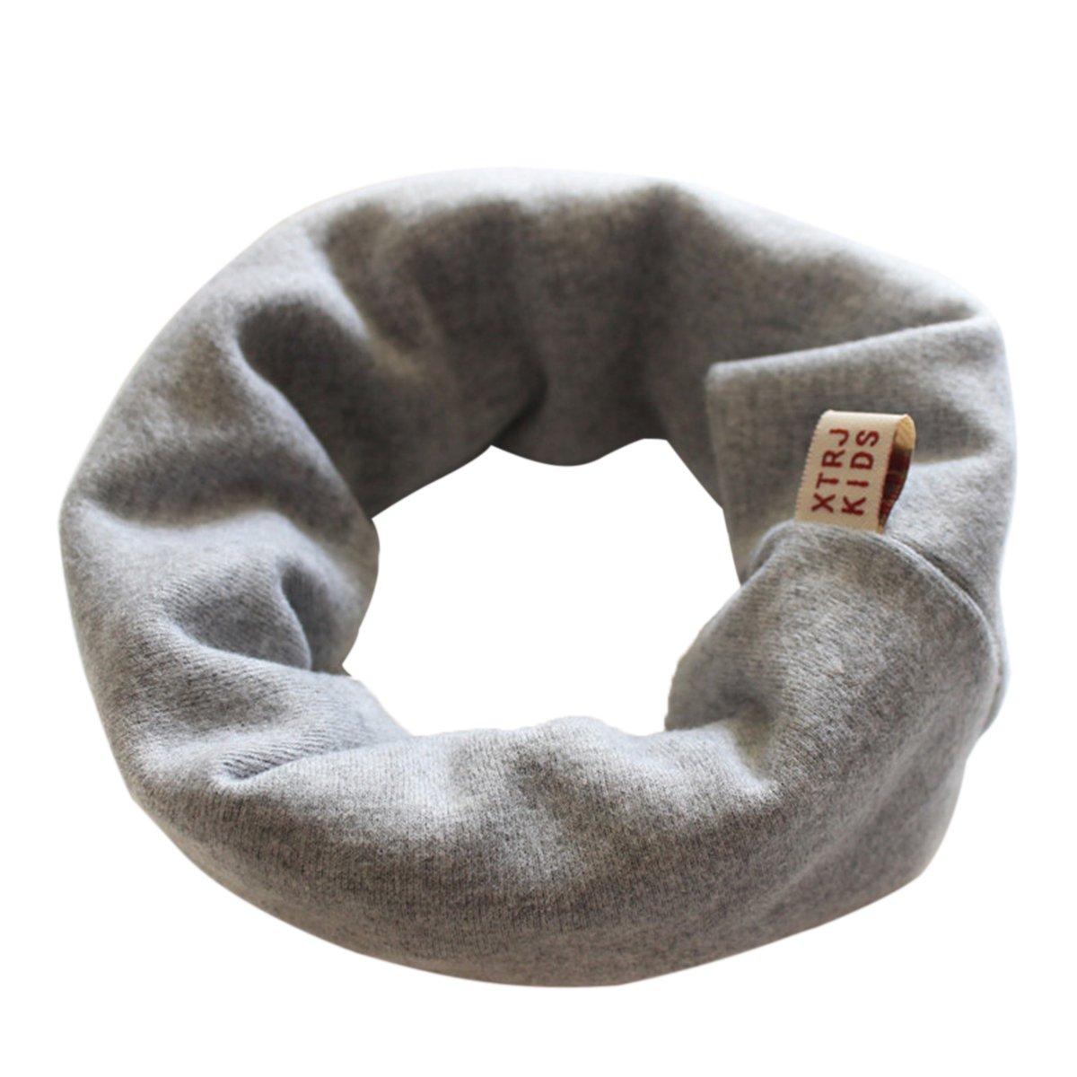 TININNA Autunno e Inverno Caldo Collo Cotone Solido Colore Sciarpa Scaldacollo Bavaglino Sciarpe per bambini ragazzi ragazze(Verde)
