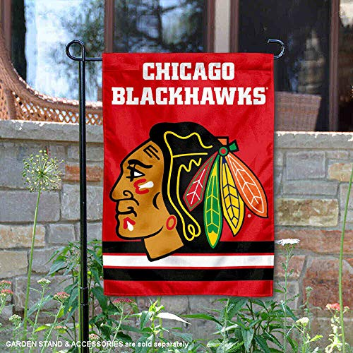 Wincraft Chicago Blackhawks Red Double Sided Garden ()