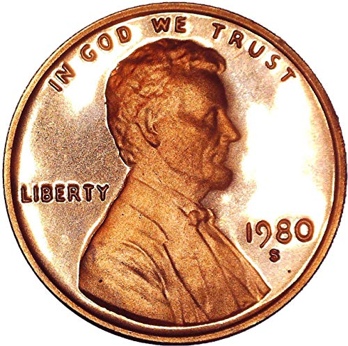 - 1980 S Lincoln Memorial Cent Deep Cameo 1C Brilliant Uncirculated