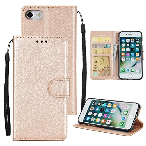 Hülle für iPhone 7 ,Schutzhülle Für Für IPhone 7 Classic Premiu PU Ledertasche Horizontale Flip Stand Case Cover ,cover für apple iPhone 7,case for iphone 7 ( Color : Gold )