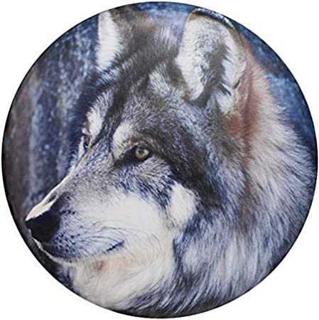 STWINW Spare Tire Cover Wheel,Wolf Run Flag Car Wheel Cover for Women Universal Car Cover Protective Cover Proof for Trailer Rv SUV,Camper Accessories and Various Vehicles