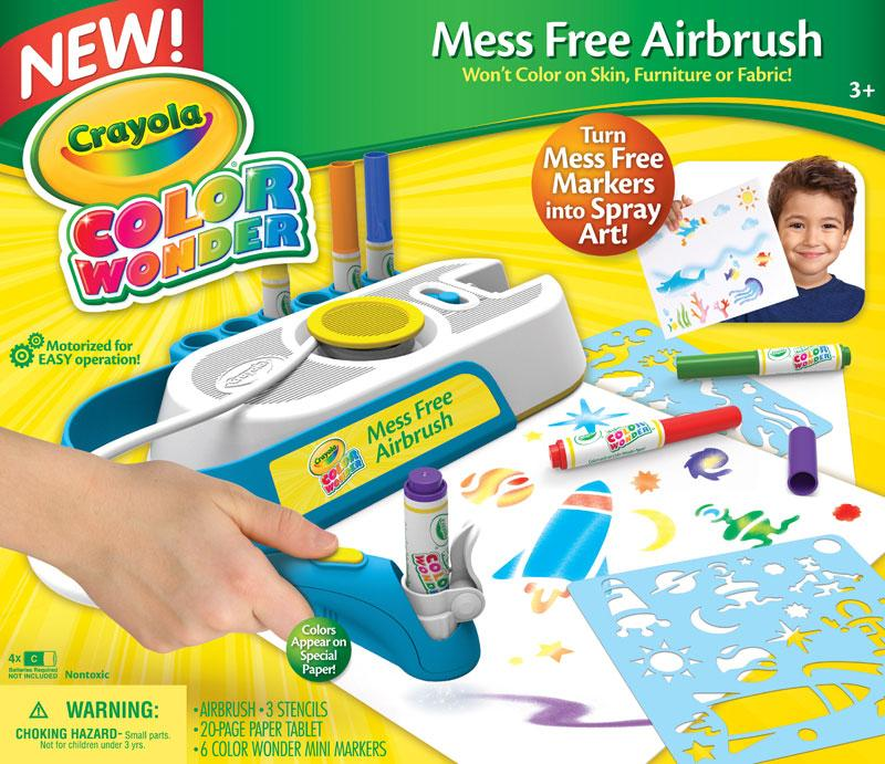 Details about Crayola CW Mess Free Airbrush, Airbrush Marker and Stencil  Pack