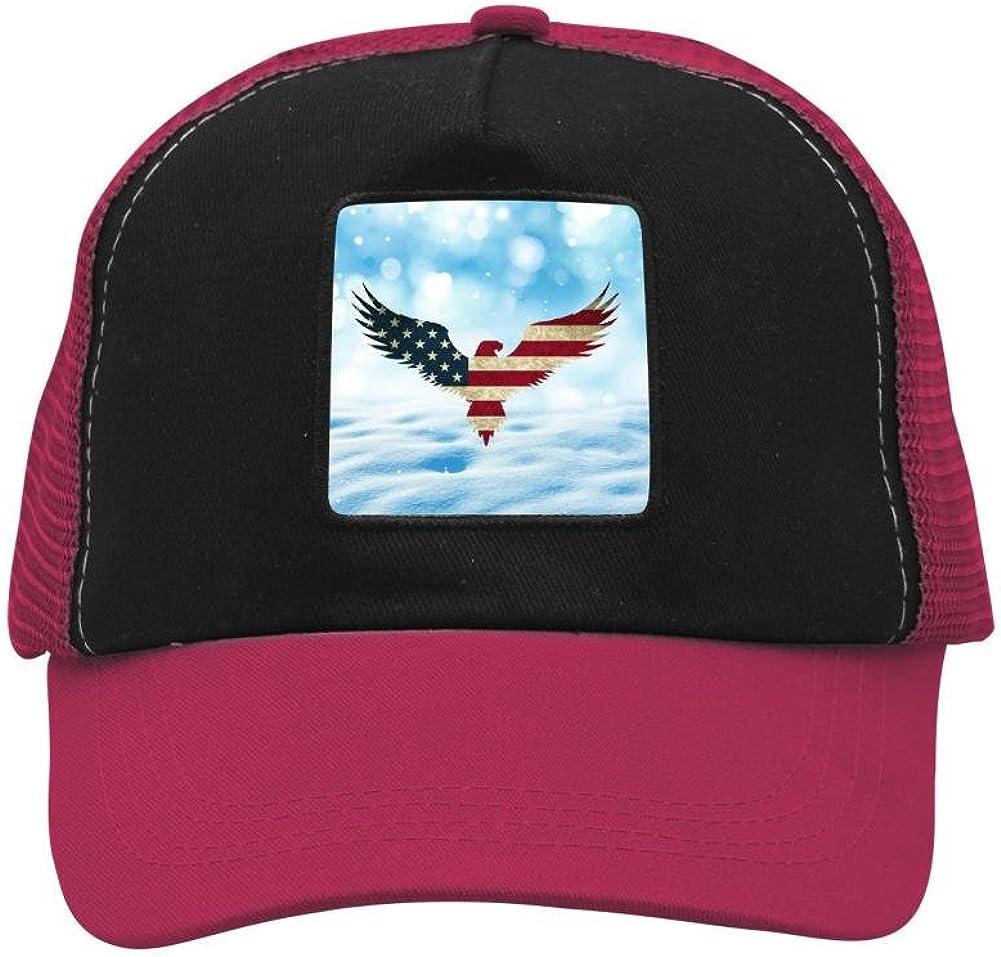 Mesh Caps Hats for Men Women Unisex Print Eagle Fly Flag