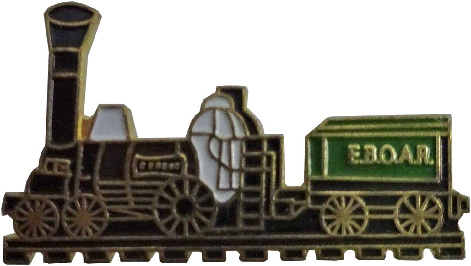 Train Engine Vintage Green  lapel pin about a inch long  Very nice  New
